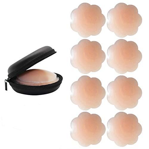 Kordear Nipple Cover - Damen Brustwarzenabdeckung Silicone Nippelabdeckung Gel Selbstklebend, Wiederverwendbar Nippel Cover Pads 2/4/8 Parrs (Nackt a)