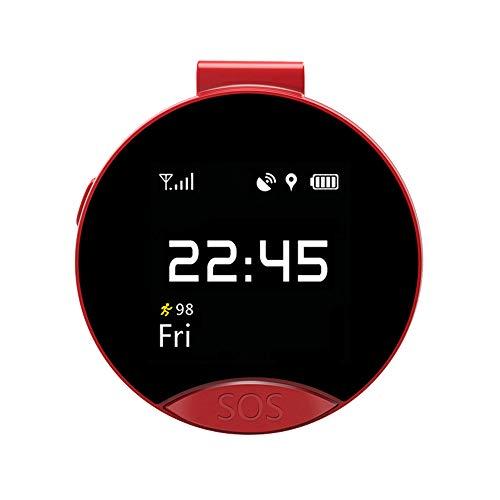 Smart Taschenuhr GPS Locator des Alten Mannes unterstützt Nano-SIM-Karte Telefonkarte Zwei-Wege-Anruf SOS rot
