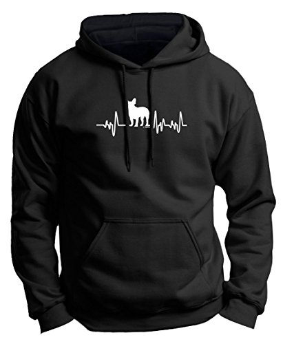 French Bulldog Shirt French Bulldog T-Shirt French Bulldog Gifts Dog Lover Heartbeat Frenchie Premium Hoodie Sweatshirt Large Black