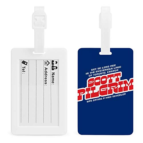 Scott Pilgrim Vs The World Opening Lines Personalized element luggage label, custom soft rubber luggage label, very convenient and quick to find the luggage
