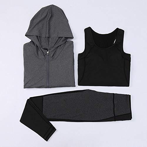 RRUI Sportswear Panty & Leggings voor dames Panty voor dames Sport Outdoor Loopset DRIE fitnessbroek pak melk zijde grijs XL