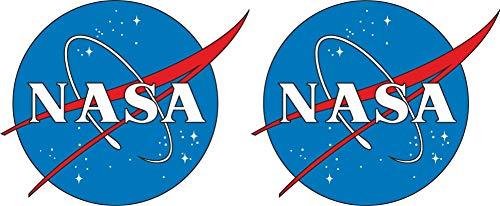 Michael & Rene Pflüger Barmstedt - 5x6 cm - 2 x Mini Premium Autoaufkleber NASA Emblem Logo Astronaut Weltall Sticker Aufkleber Auto Motorrad RC Modellbau