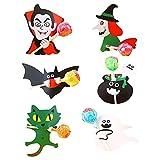Sacchetti caramelle, 72 pezzi etichette Halloween per lecca-lecca, Buste per Alimenti per festa, Decorazione di caramelle di Halloween, Regali per bambini