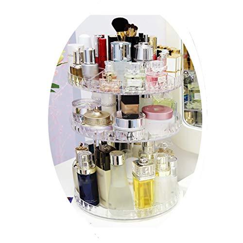 I Storage Organisateurs de Maquillage 360, boîte de Rangement cosmétique réglable, Accessoires de Salle de Bains (Couleur : A)
