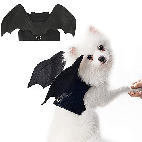 RYPET Dog Halloween Costume - Halloween Bat Wings Pet Costumes for Dogs Cats Halloween Party Medium