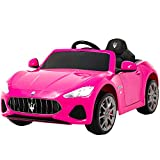 Uenjoy Maserati GranCabrio 12V Electric Kids Ride On Cars Motorized Vehicles for Girls with Remote...