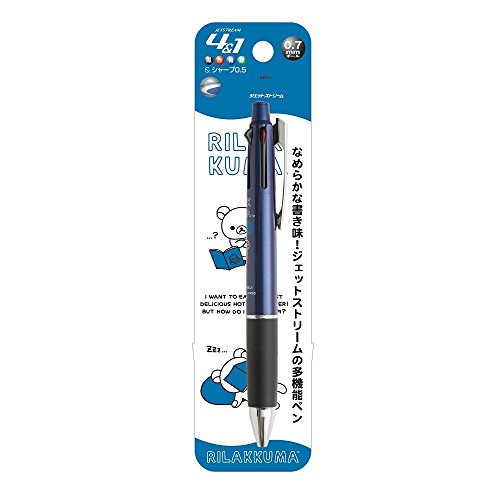 San-X Rilakkuma Jet Stream Multi-Function Pen 4&1 (Rilakkuma Casual) Navy PP33001 Made in Japan