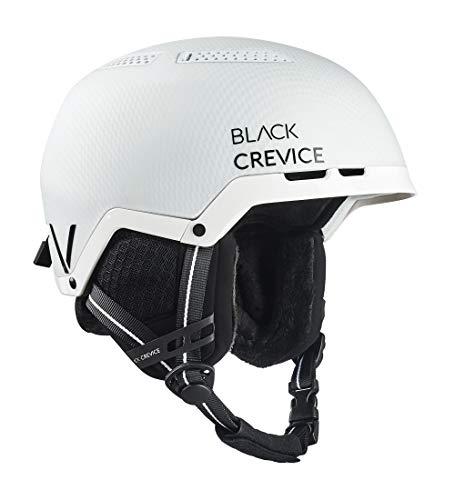 Black Crevice Unisex - volwassenen skihelm Chamonix, mat wit carbon/zwart, S (51-54 cm)