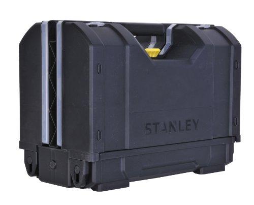 Stanley 3-in-1 Werkzeugkoffer (31,2 x 23,4 x 42,6 cm für Hand-, Elektrowerkzeuge und Zubehör, Innenteiler anpassbar) STST1-71963