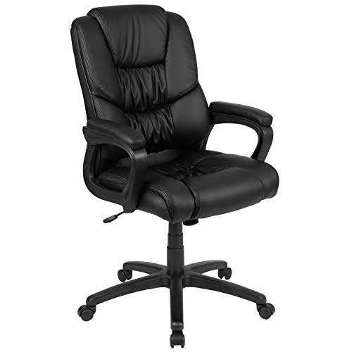 Flash Furniture Flash Fundamentals Big & Tall 400 lb. Rated Black LeatherSoft...