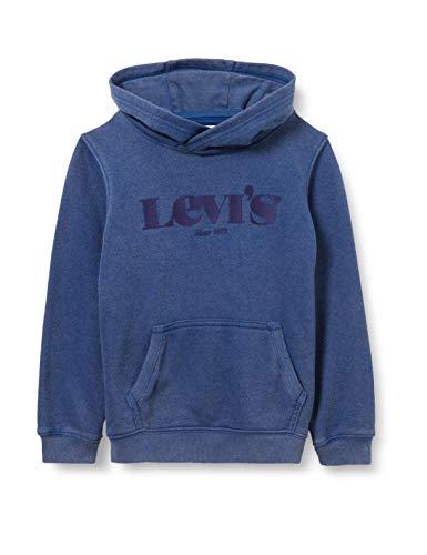 Levi's Kids LVB Washed Logo PO Hoodie C788 Hooded Sweatshirt, Estate Blue, 3 Ans Garçon
