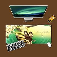 NARUTO-ナルト-大型ゲーミングマウスパッドマウスマット滑り止めラバーベースの拡張デスクパッド、キーボードとマウス用の特別なテクスチャ表面800x300x3mm-A_800*300*3MM