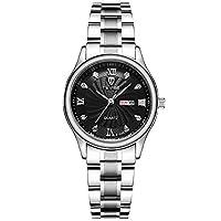 ZHANGZZ高品質、ハイエンドのファッションウォッチ, TEVISEカジュアルな女性の腕時計メンズスチール腕時計クォーツ時計 (Color : 4)