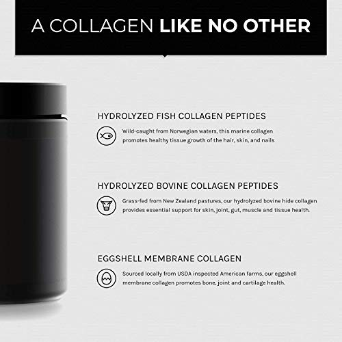 41l0hRpo4jL - Ultra High Strength Multi Collagen Pills - (2100mg Type I, II, III, V & X) - New Zealand Grass-Fed - Wild-Caught from Norway - The Most Bioavailable Clinically Proven Ingredients Peptides Blend