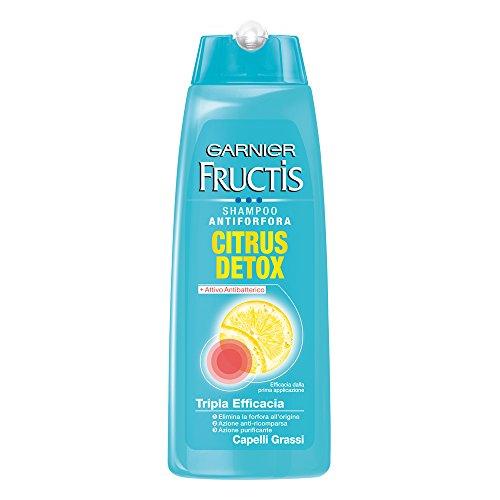 Garnier Fructis Citrus Detox Shampoo Antiforfora per Capelli Grassi - 250 ml