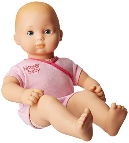 American Girl - Bitty Baby Doll Light Skin Blond Hair Blue Eyes BB3 with Pink Bodysuit