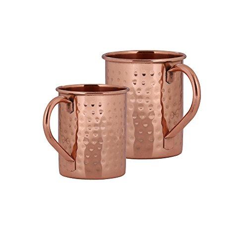 Stylla London Pur Moscow Mule Mug en martelé avec poignée, Cuivre, 8.43 x 4.8 x 4.65 cm