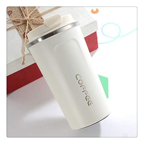 Aiglen Vaso Taza Taza térmica con Tapa Termo de Acero Inoxidable para té Café Frasco de vacío Vasos a Prueba de Fugas Botella de Agua en el Coche (Color : C, Size : 510ml)