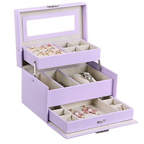 Little Girl Jewelry Pink Purple Holder Wood Jewelry Box Customized Personalized