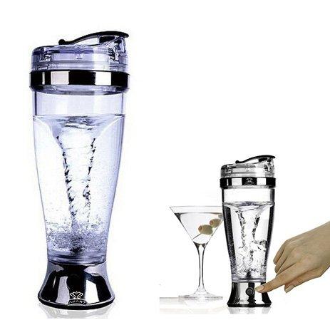 Itian 450 ML automatique mélangeur du café, café agitation tasse de mélange, Cocktail électrique Shaker en acier inoxydable, Parfait pour Mélange Jus, Cocktails, Cafés, Thés et Boissons Protéinées