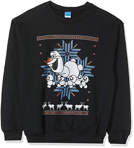 Disney Frozen Herren Men's Christmas Olaf and Snowmen Sweatshirt, Schwarz (Black 001), Small