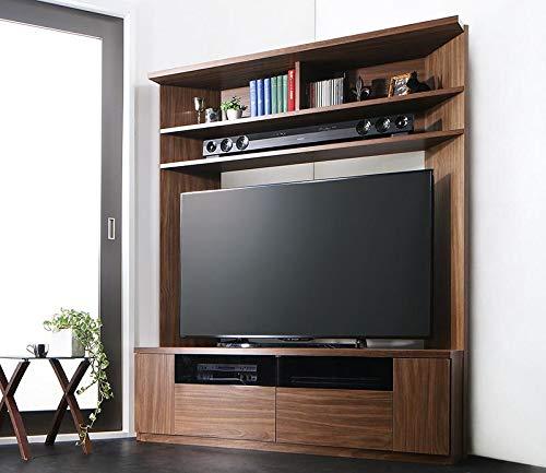 55型もコーナーに置きたいハイタイプテレビ台コーナーテレビボード(ウォールナットブラウン)/50インチ55インチ壁面収納