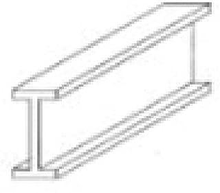 Evergreen Scale Models I-Beam 3/8 (2)