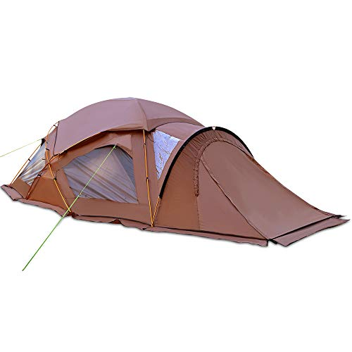 Geertop 家族ファミリーキャンプテント4人用 トンネル 大型 二重層構造 広い視野 防水 軽量 お釣り ハイキング パーティー 海 登山