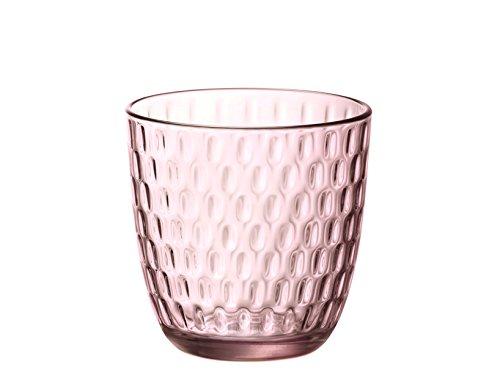 Bormioli Rocco Slot Set Bicchieri, Rosa, 6 unità