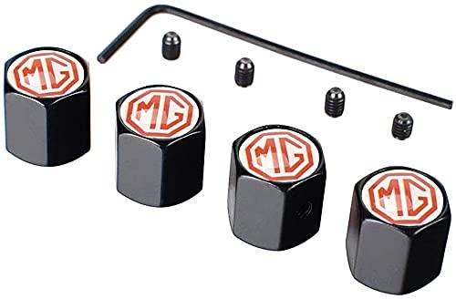 Neumático Automóvil Válvula Tapones Tapas para MG ZS GS 3 5 6 7 350 Jaguar S TYPE SVR XFR XF XK8 XKR F-Type XJ-S, Polvo con Logo Antirrobo Decoración Accesorios
