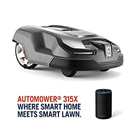 Husqvarna AUTOMOWER 315X Robotic Lawn Mower 3 Maintain a yard the neighbors will envy with the touch of a button or the command of your voice; Smart Home meets Smart Lawn with AUTOMOWER 315X Manage your mower's cutting schedule and track it's exact location with the Automower Connect app and start or stop your mower quickly via voice command using your Amazon Alexa or Google Home device Guided by hidden boundary wires, Automower knows how to smartly maneuver around your yard and when it is time to return to the charging station for a battery recharge