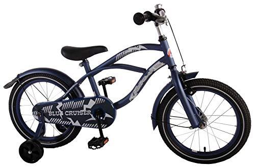 16 Zoll Kinderfahrrad Kinder Mädchen Jungenfahrrad Hollandfahrrad Fahrrad Bike Rad Unisex Beach Cruiser Volare Matt Blau 61613
