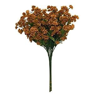 Floral Décor Supplies for Artificial Gypsophila 12 pcs Silk Baby's Breath Flowers Wedding Filler Gyp Dozen for DIY Flower Arrangement Decorations – Color is Brown