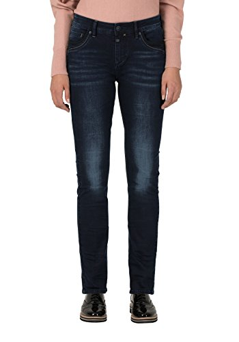 Timezone Damen TahilaTZ Womenshape Slim Jeans, Black Diamond Wash 9047, W28/L32
