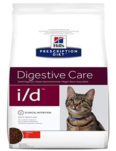 HILL'S PRESCRIPTION DIET Feline i/d Digestive Care - Chicken 5kg Formulated for Cats With Chronic Digestive Health Problems, Rich In Electrolytes And Antioxidants Comes With A Woolly Mouse Cat Toy