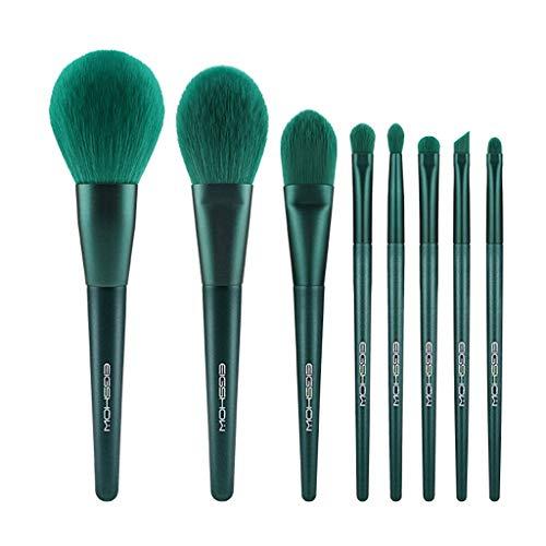 Ensemble brosse de maquillage, jeu de pinceau de maquillage professionnel vert malachite, fond de teint base cosmétique synthétique anti-cernes, peut mélanger le fard à paupières, le chant du visage e