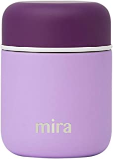 MIRA 9 oz Lunch, Food Jar | Vacuum Insulated Stainless Steel Lunch Thermos | Lilac