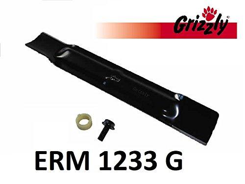 Grizzly Ersatzmesser inkl. Messerschraube Elektro Rasenmäher ERM 1233 G/Ersatz Messer ERM1233G