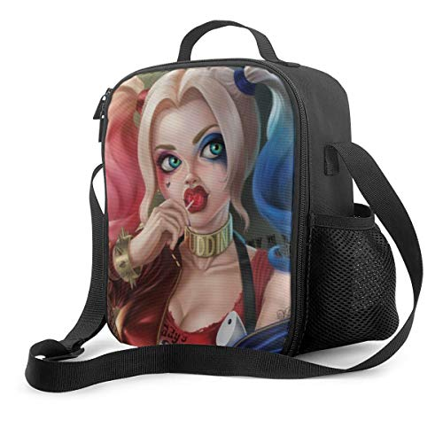 Harley Quinn Leakproof Insulated Lunch Bag, Heat Preservation And Cold Preservation Portable Large Capacity Waterproof Lunch Bag Reusable For School Office Travel Picnic