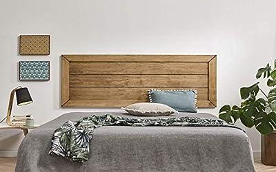 Cabecero de madera maciza natural acabado encerado. No requiere montaje, sólo colgar en la pared. Fabricado en España. Garantía de satisfacción 100%. La oferta sólo incluye en cabecero. Medidas: Ancho: 155 cm x Alto: 60 cm x Grosor: 2 cm.