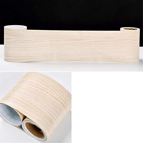 Cenefa de papel pintado impermeable para habitación de los niños, abedul, cintura extraíble, adhesivo de pared, zócalo, PVC, borde decorativo para baño, sala de estar, cocina, 10 cm x 1000 cm
