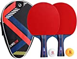 Clinch Star Ping Pong Table Tennis 2 Paddle Rackets Professional Set - 3