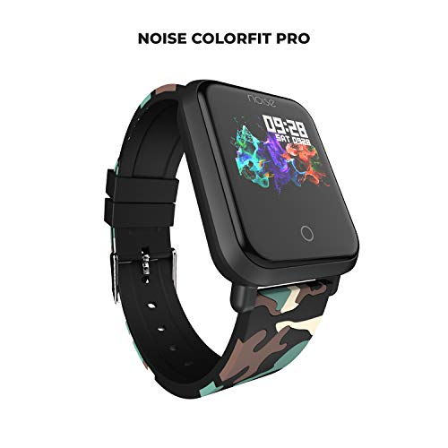 Noise ColorFit Pro Fitness Watch/Smart Watch/Activity Tracker/Fitness Band with Colored Display Waterproof,Heart Rate Sensor, Call & Notification Alert with Music Control Features (Camo Green)