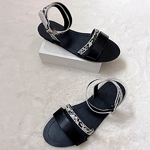 CHLDDHC Sandalias Planas para Mujer Zapatos De Playa De Verano para Mujer Confort Cerrojo Casual Antideslizante Slingback Plantilla Suave Sandalias para Caminar Zapatos De Vacaciones