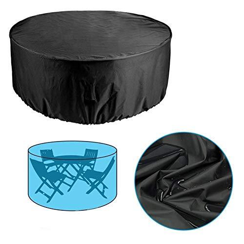 HULG - Juego de mesa redonda para patio y silla, funda protectora, funda combinada para mesa y silla, resistente al polvo, impermeable, protección UV, 227*100cm