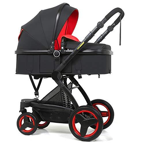 Best Buy! Yankuoo Portable 3-in-1 Travel System, Folding Crib, Two-Way Shock-Absorbing Baby Push, Se...