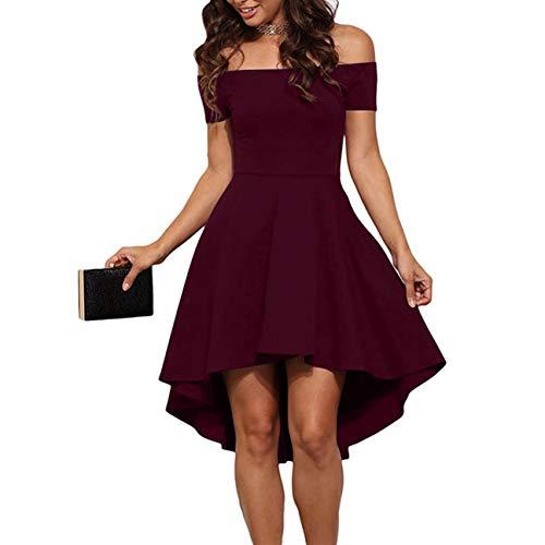 Falda Corta de Mujer Falda sin Tirantes Cóctel Dobladillo Irregular Color sólido Longitud de la Rodilla