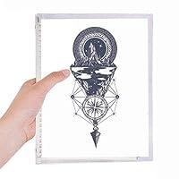 氷山のコンパスの星の芸術のパターン 硬質プラスチックルーズリーフノートノート