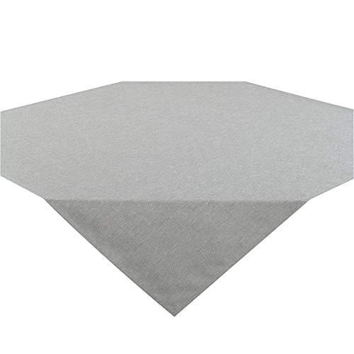 Tischdecke Wien, grau, 85x85 cm, Fleckschutz, Mitteldecke für das ganze Jahr