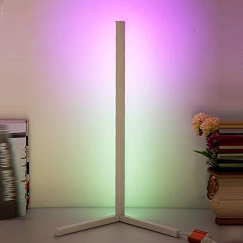 JDKC- Lámpara de Mesa WiFi Inteligente RGB Regulable Cambio de Color Lámpara de Escritorio de Lectura LED con Aplicación/Control por Voz Compatible con Amazon Alexa Google (Color : White)